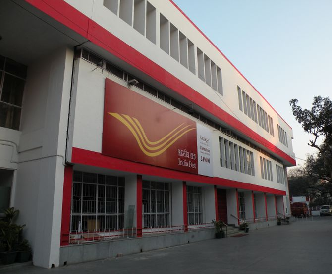 A single storey post office building in Uttarakhand.