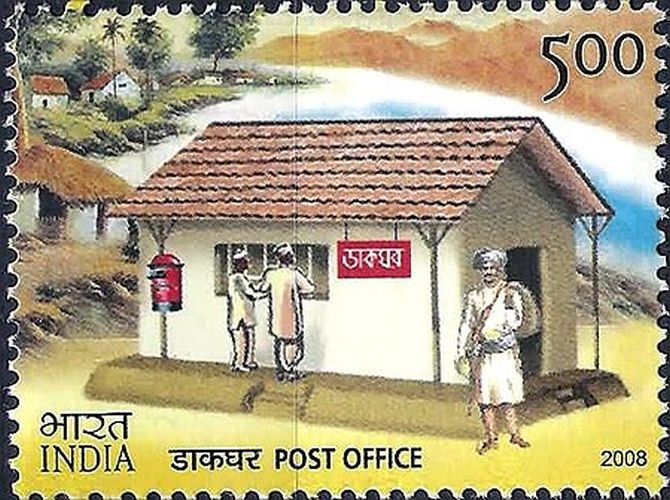 The era of posting letters with duly attached stamps still exists in rural parts of india.