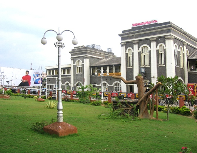 Trivandrum Central station.
