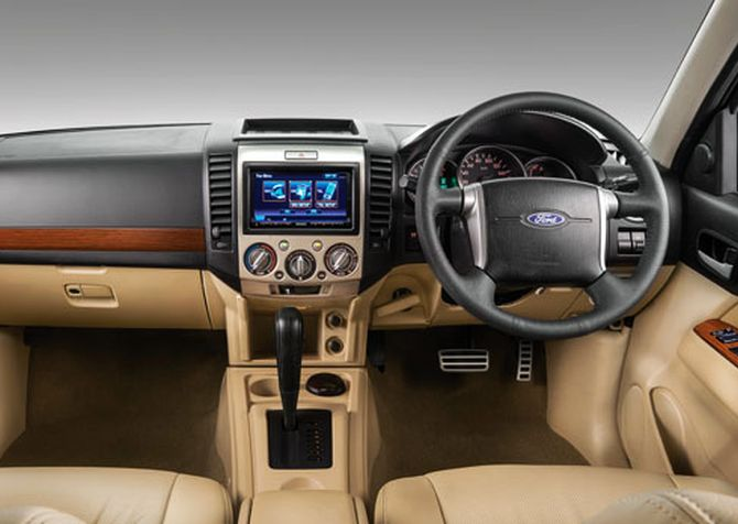 Ford Endeavour interior.