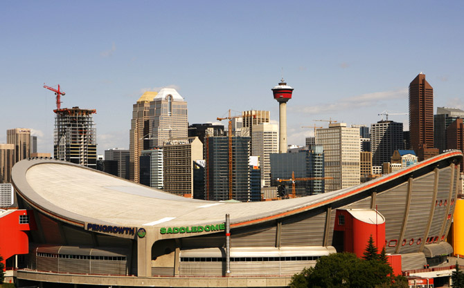 The Pengrowth Saddledome stands as one of the icons of the Calgary.