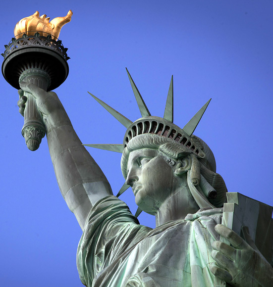 The Statue of Liberty is pictured on Liberty Island in New York.