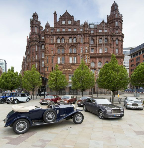 Rolls-Royce motor cars celebrates 110 years of excellence at the Midland Hotel, Manchester.