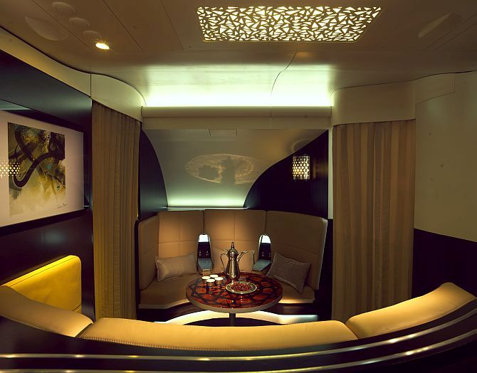 Lobby of the new Residence Class that Etihad unveiled.