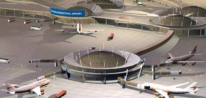 Plan of new international airport at Dholera.