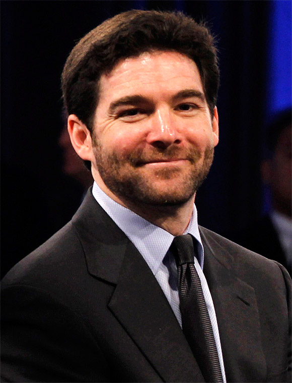 Jeff Weiner at a LinkedIn town hall-style meeting.