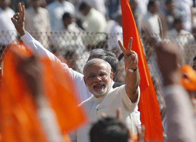 Narendra Modi believes in restructuring of PSUs.