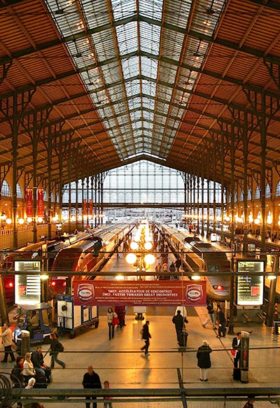 A general view of the Gare Du Nord.