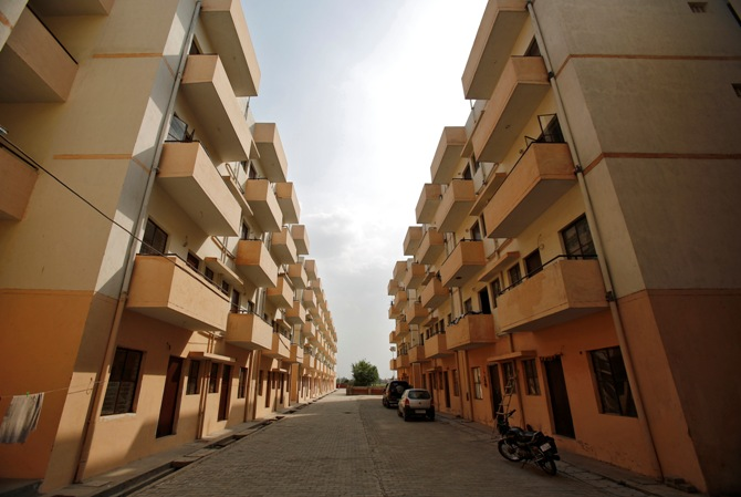 Dinesh Nagar housing complex at Ghaziabad on the outskirts of New Delhi.