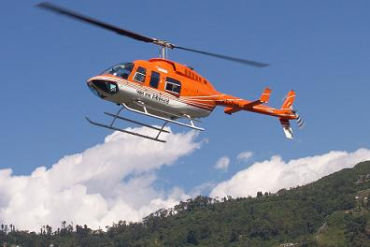 A Pawan Hans helicopter