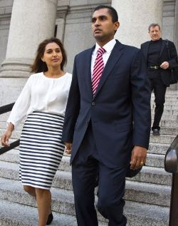 Mathew Martoma with his wife Rosemary Martoma.
