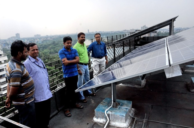 Avijit Ghosh with his team at SIRSA rooftop