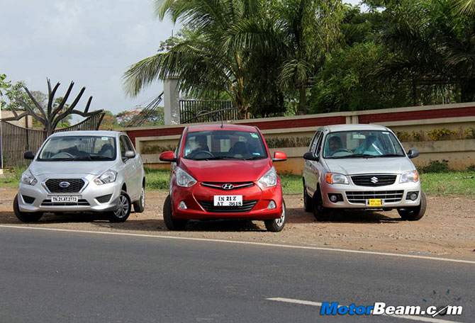 Hyundai Eon, Datsun GO or Alto K10: And the best car is...