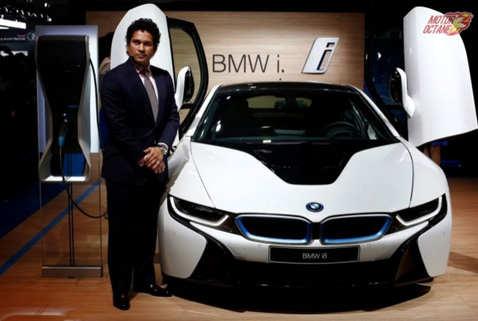 Sachin Tendulkar launches BMW i8