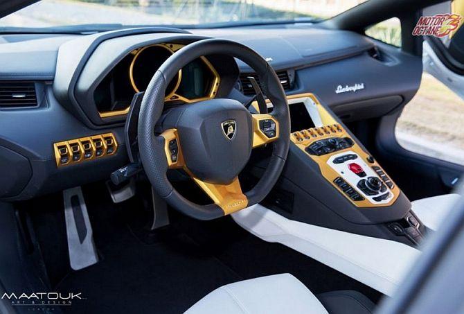 Driving The Dream A Gold Plated Lamborghini Aventador Rediff Com