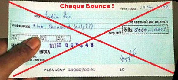 Soon you may not go to jail for bouncing a cheque