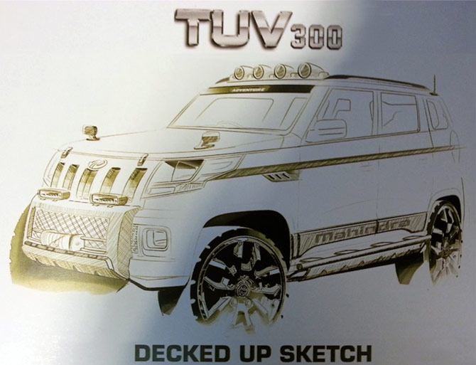 Revealed! Mahindra's stylish SUV called TUV300
