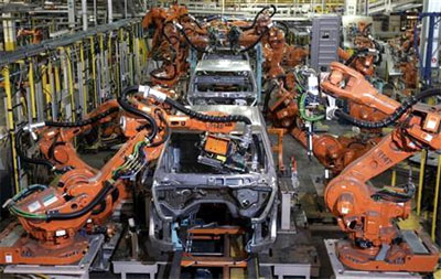 Robots rising in auto factories but no labour replacement yet
