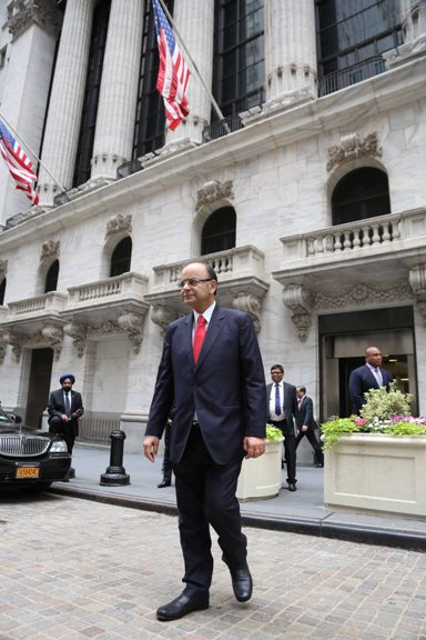 Arun Jaitley at NYSE
