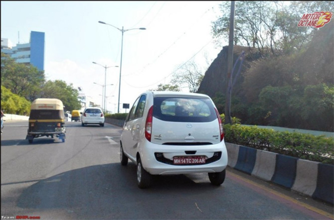 Spotted: New Tata Nano AMT