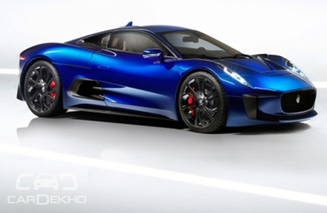 Don't miss! Wild and wacky Jaguar C-X75 from James Bond's latest flick