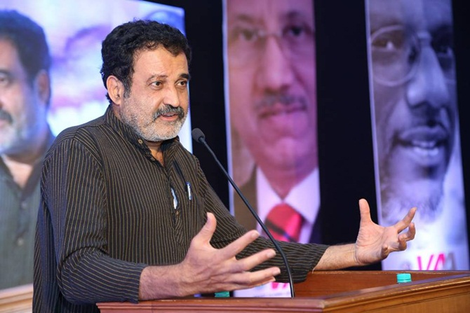 Image: Mohandas Pai, former chief financial officer of Infosys, is known as an outspoken social commentator.