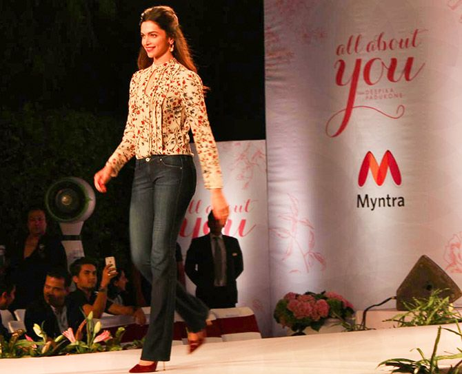 Deepika Padukone promotes her brand, All About You, on Myntra