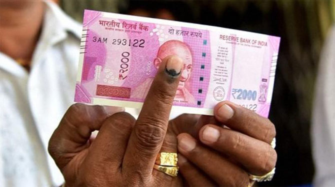 Rs 2000 and indelible ink