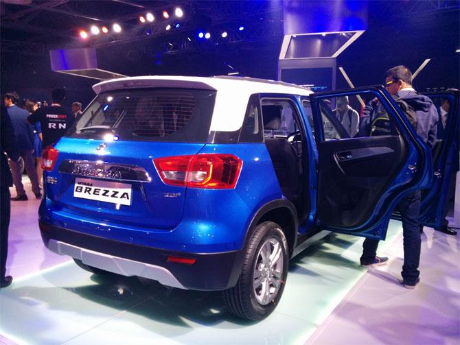 Auto Expo Maruti S Vitara Brezza Is Here Rediff Com Business