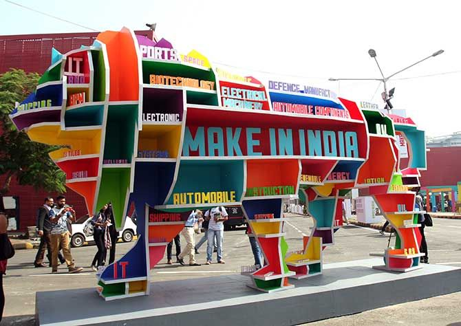 A scene from the Make In India event in  Mumbai. Photograph: Sanjay Sawant/Rediff.com