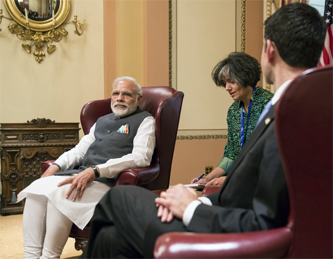 Prime Minister Narendra Modi with Speaker Paul Ryan.