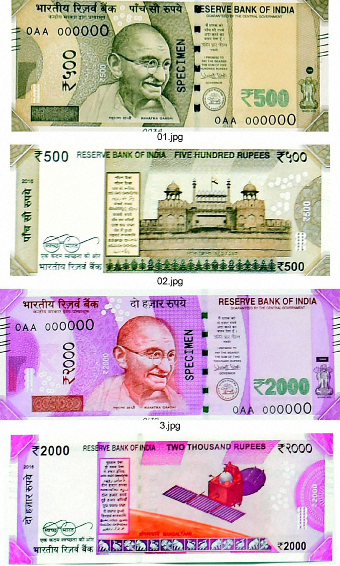Check out the new Rs 500, 2,000 notes!