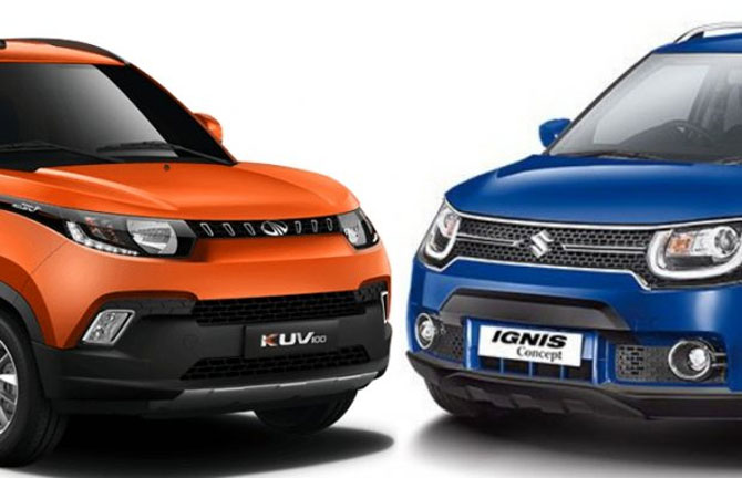 Which to buy? Maruti Ignis or Mahindra KUV100