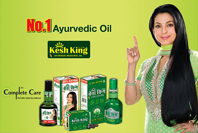Emami roped in Juhi Chawla to promote its Kesh King Oil