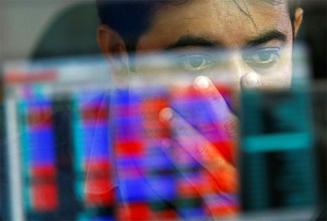 Sensex tanks 229 points on weak macro data