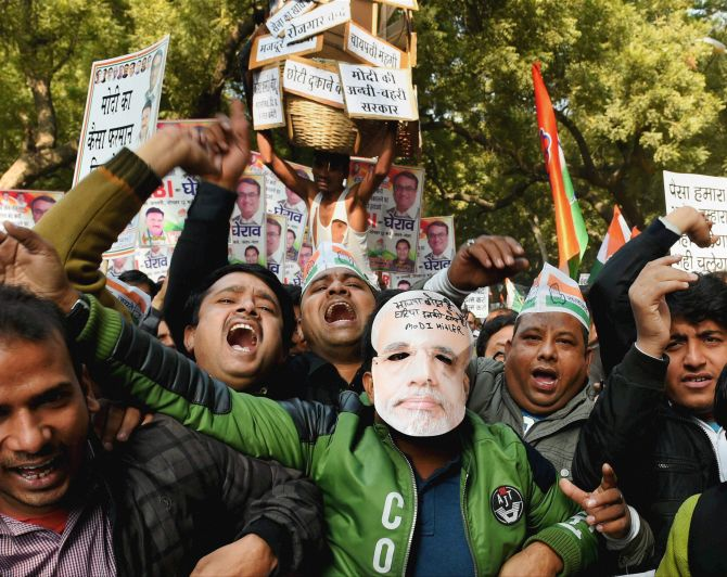 Congress leaders protest against demonetisation outside RBI offices