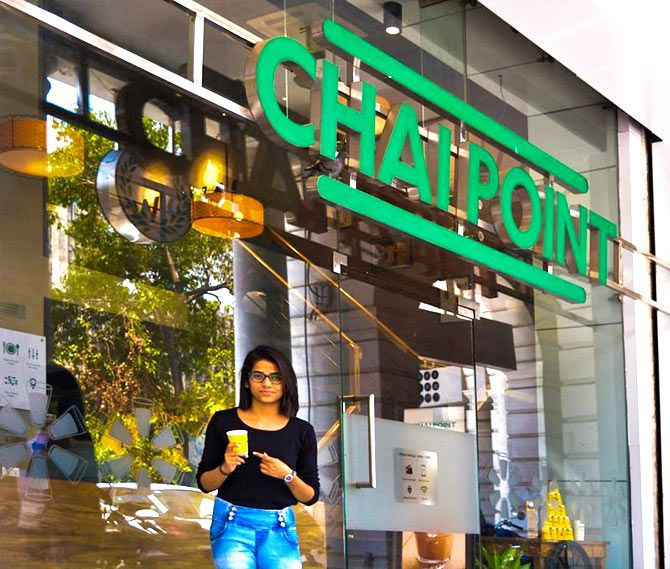 A Chai Point outlet. Photo: @Chai_Point/Twitter