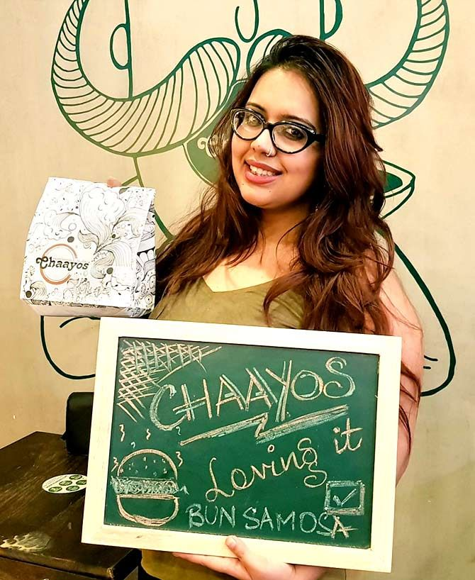A Chaayos patron. Photo: @chaayos/Twitter