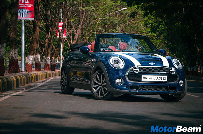 With the roof down, MINI Cooper S Convertible looks BEAUTIFUL