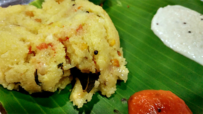 Upma Photo by Thamizhpparithi Maari/Wikimedia Commons