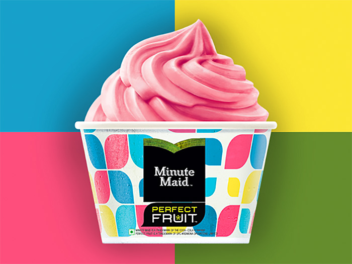 Minute maid frozen fruit dessert. Photo: Courtesy Coca-Cola India