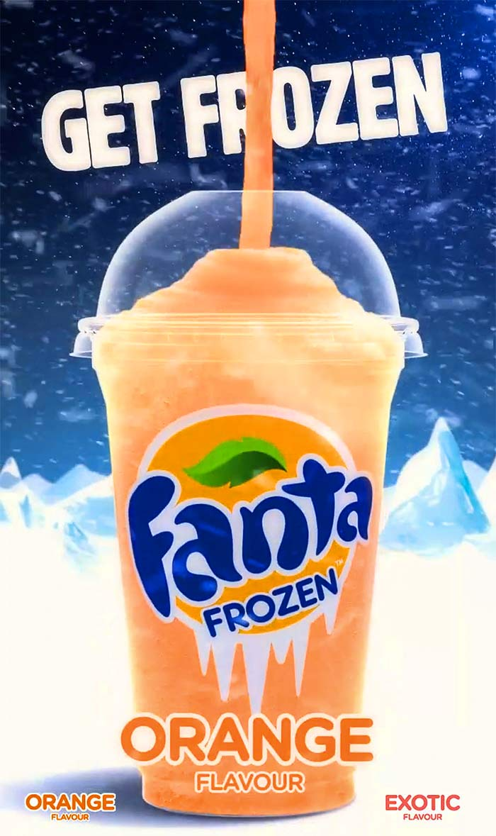 Frozen Fanta. Photo: Courtesy Coca-Cola India