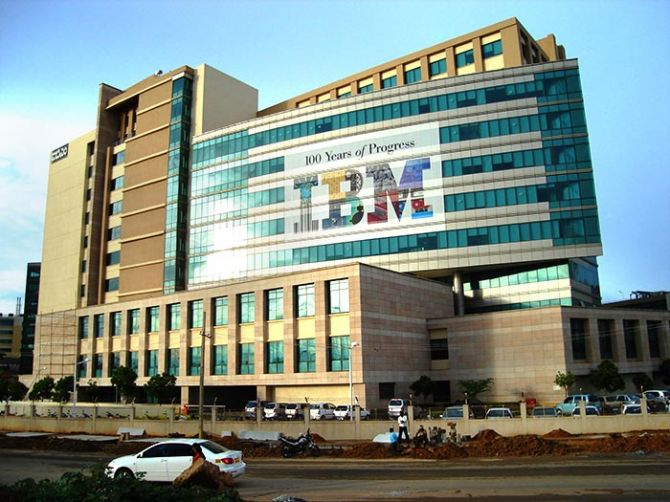 IBM headquarters in Bengaluru. Photo: Courtesy Vinoo202/Wikimedia Commons