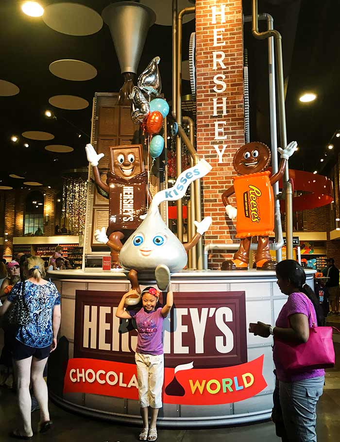 Visitors pose in Hershey's Chocolate World, a sprawling candy and chocolate store in Hershey, Pennsylvania, July 2, 2016. Koh Gui Qing/Reuters