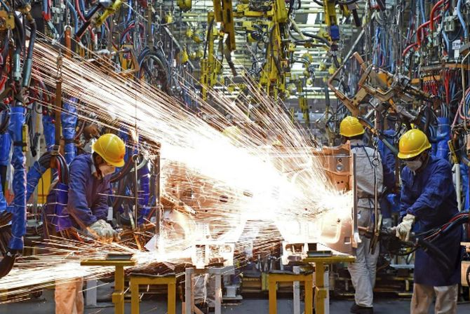 Industrial output declines by 10.4% in July