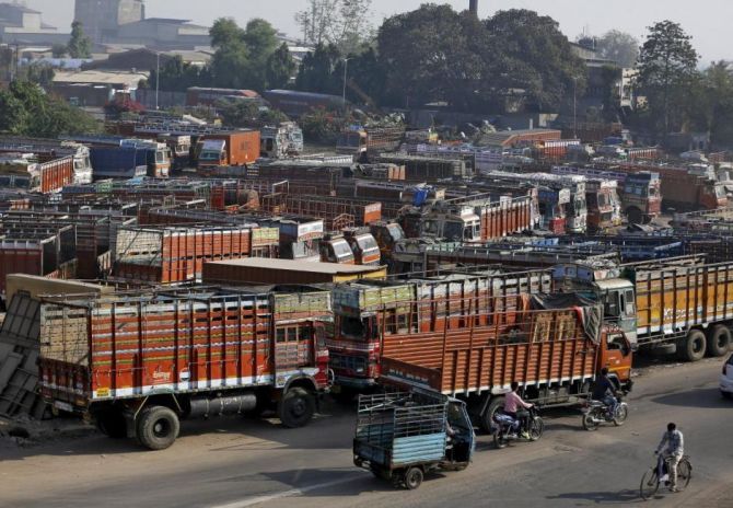 Crippled road transport hits supply of essentials
