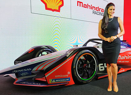 Here comes M5 Electro, the electric race car from Mahindra