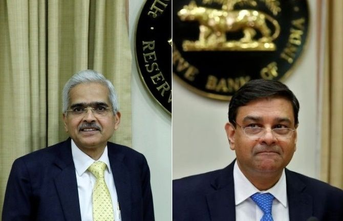 Shaktikanta Das, the new RBI governor, left, and Dr Urjit R Patel, who resigned with 'immediate effect' as RBI governor on December 11, 2018