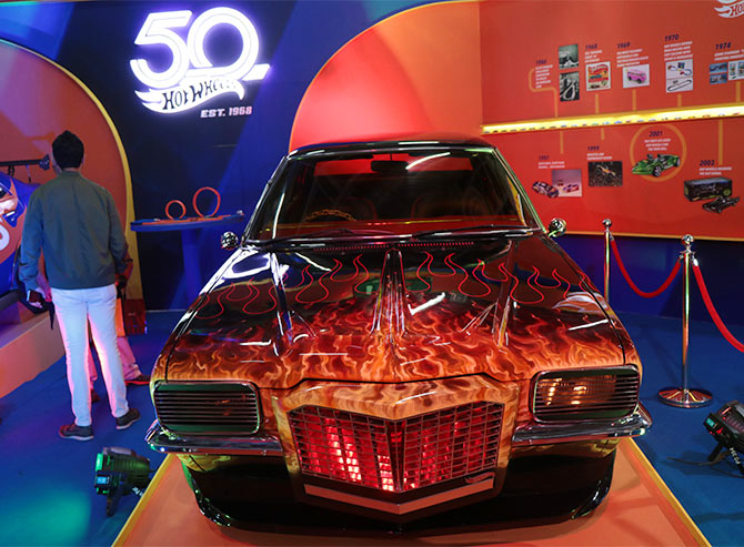 Hot Wheels stall at Auto Expo makes kids out of adults