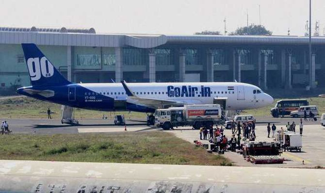 GoAir flight catches fire during takeoff; all safe